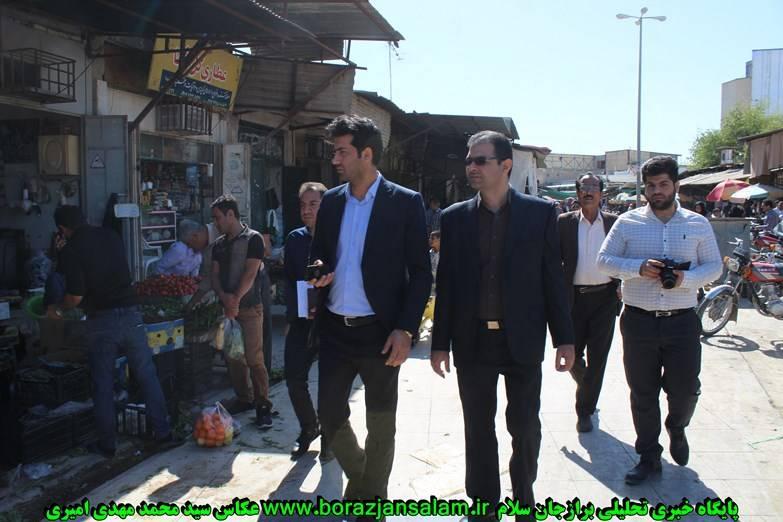 تصاویر سومین بازدید از بازار در سه هفته اخیر توسط رییس اتاق اصناف ، فرمانده حوزه اصناف و رییس اماکن انتظامی برازجان از بازاربرازجان