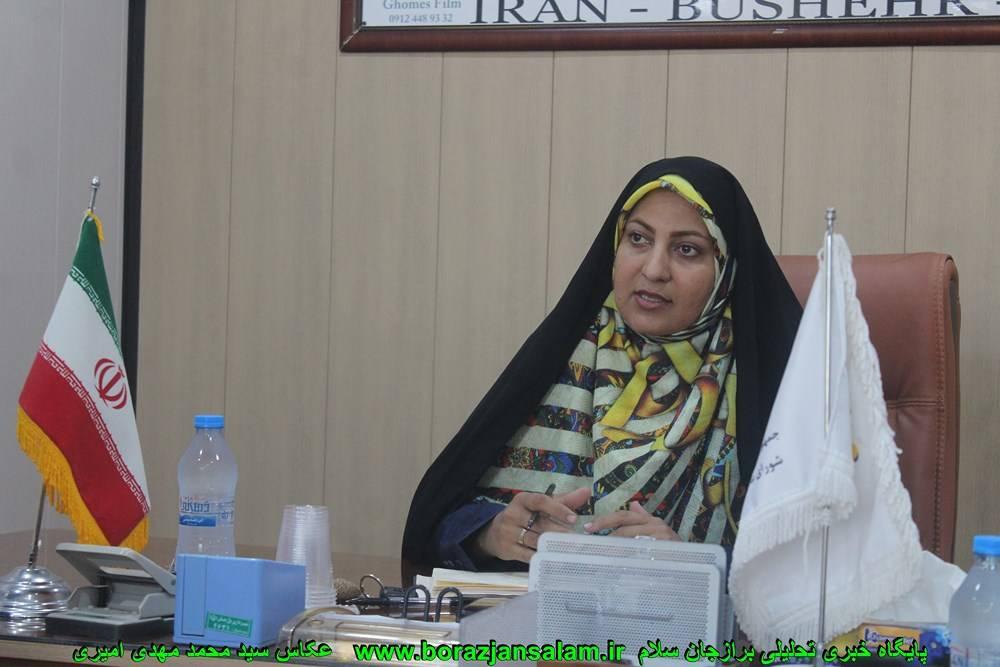 سیده خدیجه حسینی از پیگیرهای اصحاب رسانه برای پوشش خبری روز برازجان تشگر نمود
