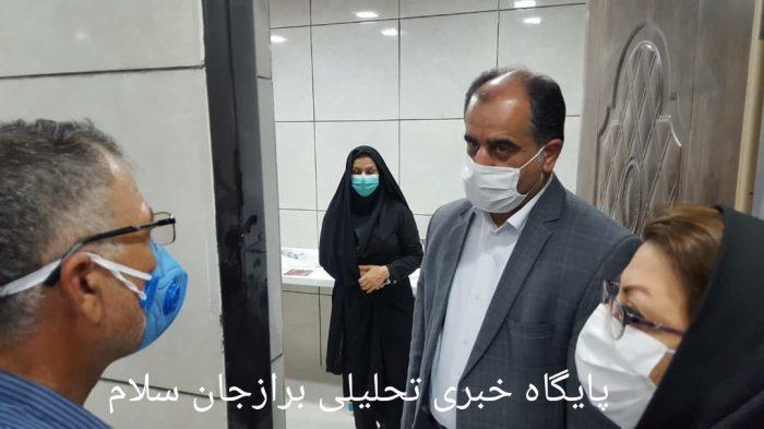 فرماندار دشتستان به همراه رییس شبکه بهداشت و درمان شهرستان از ساختمان در حال احداث شده کرونا بازدید نمودند