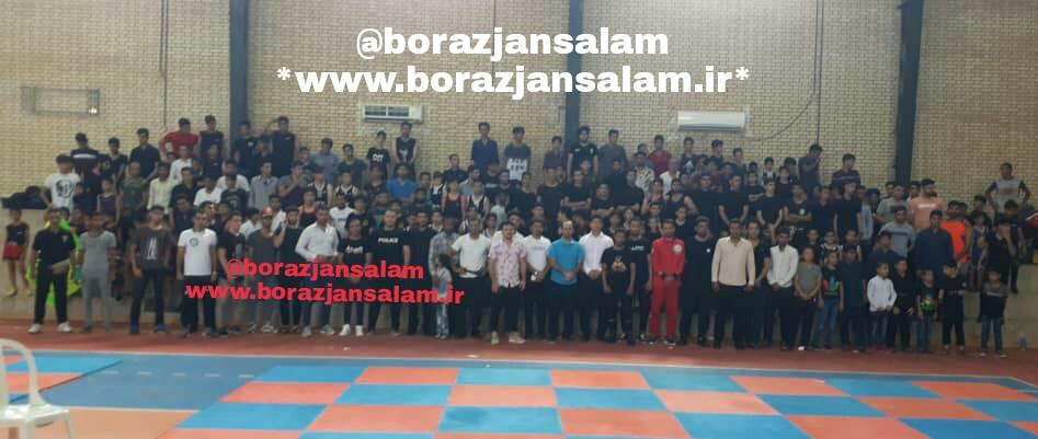 مسابقات قهرمانی رشته کیک بوکسینگ در برازجان برگزار شد .
