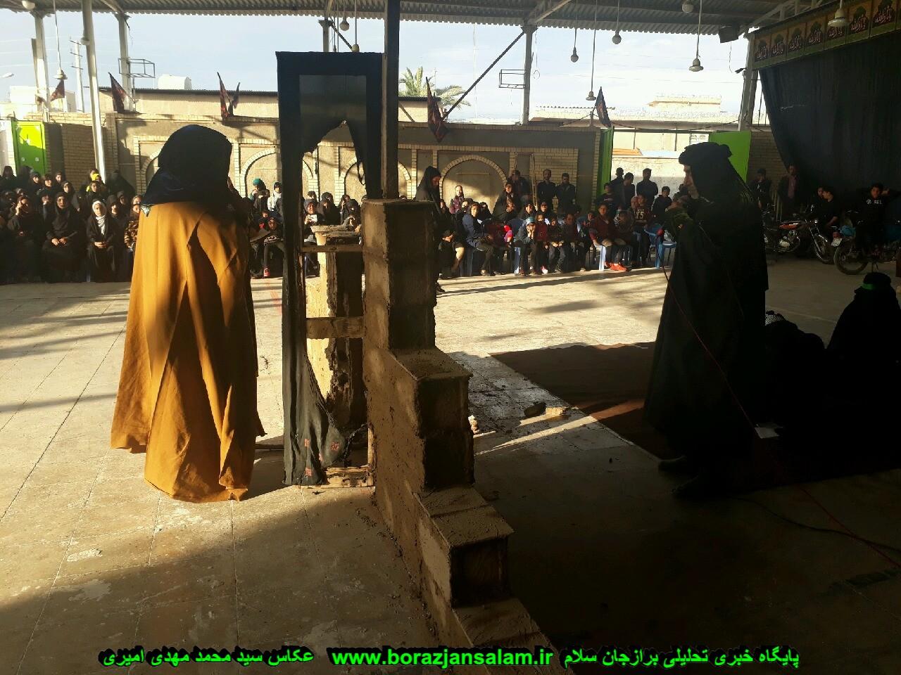 گروه تعزیه شهدای کربلا برازجان شهادت حضرت فاطمه زهرا را برگزار نمود
