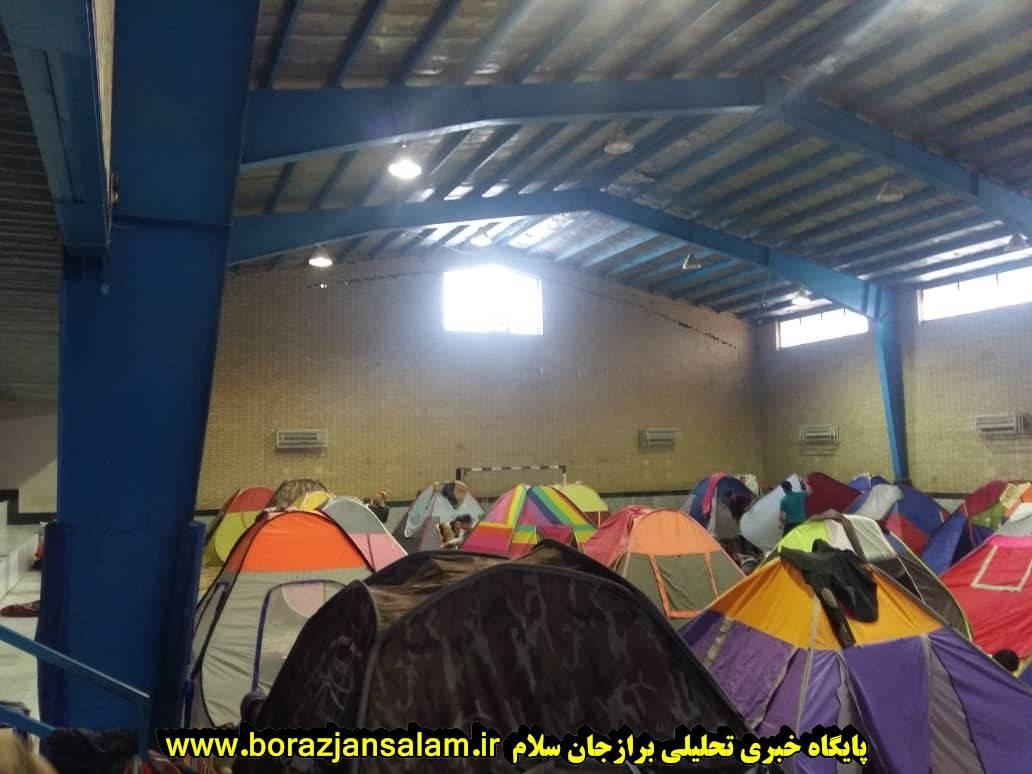 فرمانده سپاه جوادالائمه دشتستان : اسکان مسافران کمک اندکی به مسافران عزیز است + تصاویر