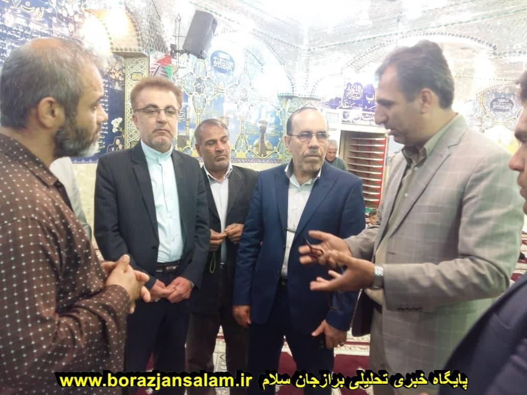 بازدید مدیرکل بازرسی استانداری بوشهر به همراه شهردار برازجان و هیئت همراه از محلهای اسکان مهمانان نوروزی در برازجان + تصاویر اختصاصی