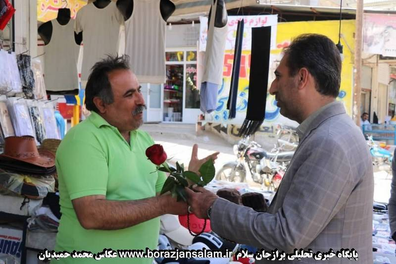 مهندس محمدحسن محمدی شهردار برازجان در میان بازاریان برازجان به مناسبت تبریک سال نو