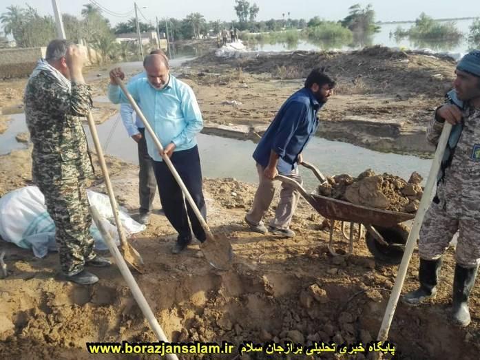 حضور فرمانده سپاه دشتستان در مناطق سیل زده و کمک رسانی به آنان به روایت تصویر